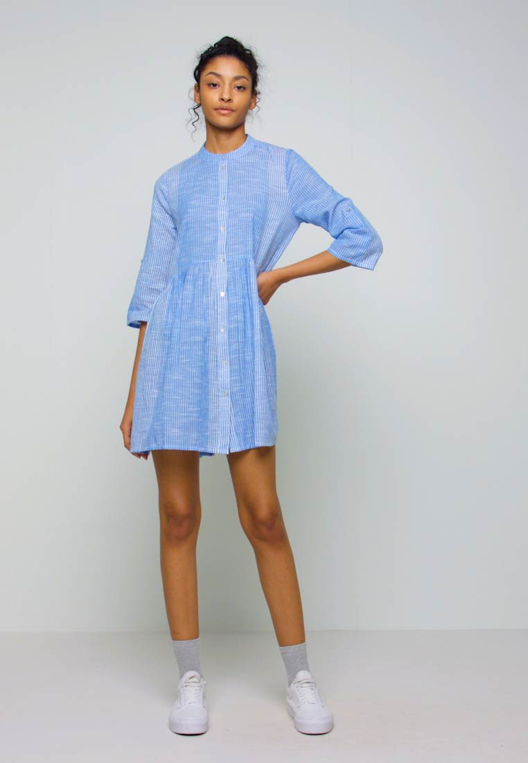 ONLY - ONLCHICAGO LIFE STRIPE DRESS - Day dress - cloud dancer/medium blue - 1