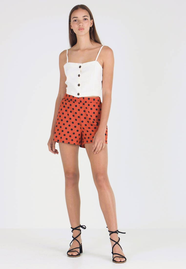 ONLY - ONLDOTTY  - Shorts - potters clay/big black - 1