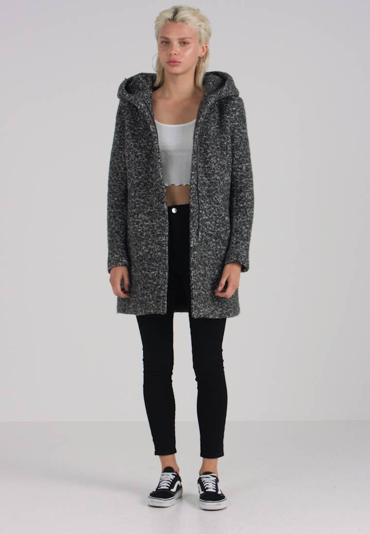 ONLY - ONLSEDONA  - Cappotto corto - dark grey melange - 1