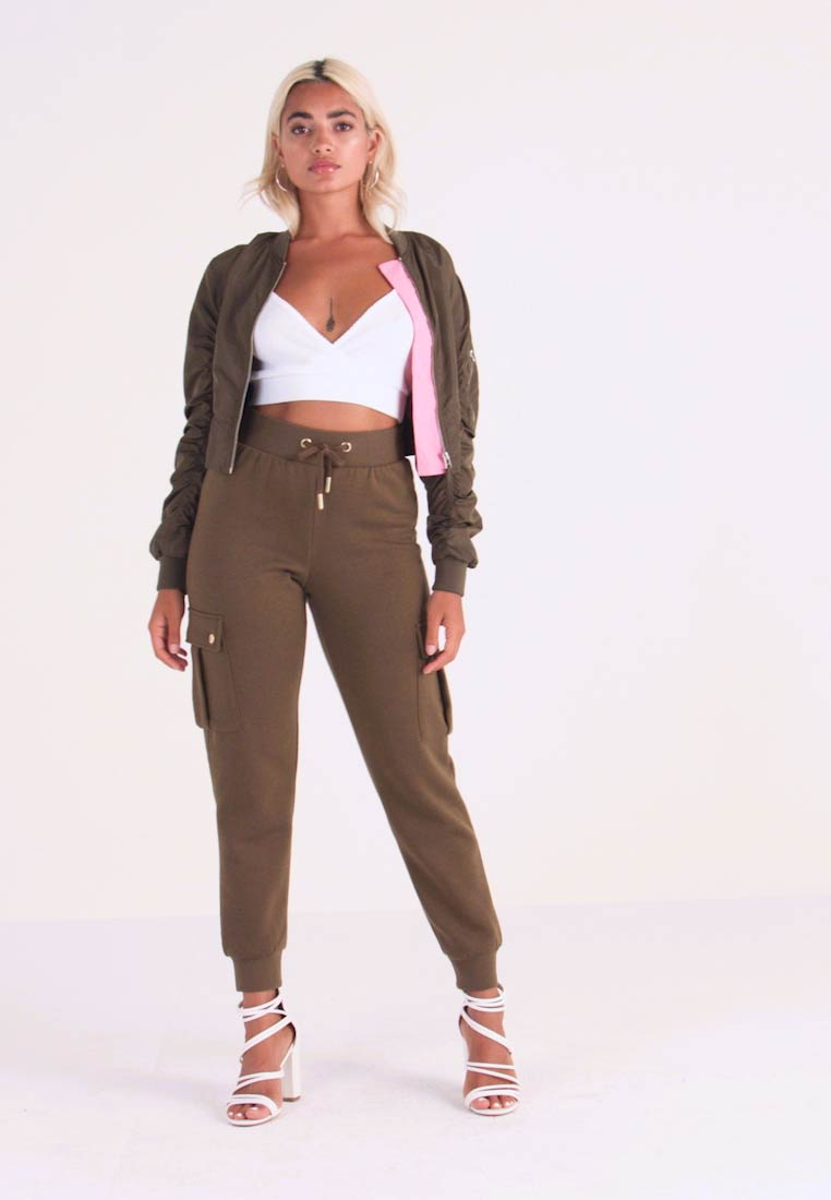 ONLY Petite - ONLESME LONG PANTS - Tracksuit bottoms - beech - 1