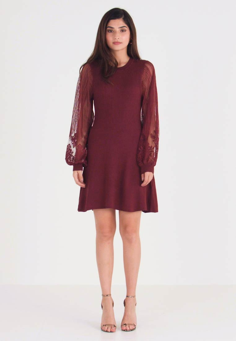 ONLY Petite - ONLLACEY DRESS - Jumper dress - tawny port - 1