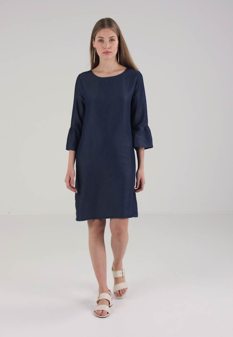 Opus - WINY CHAMBRAY - Spijkerjurk - clean blue - 1
