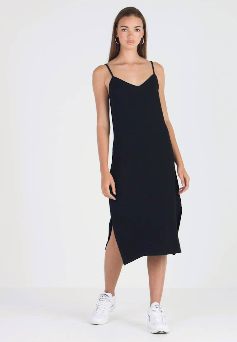 Pieces - PCFREJA SLIP DRESS - Jersey dress - black - 1