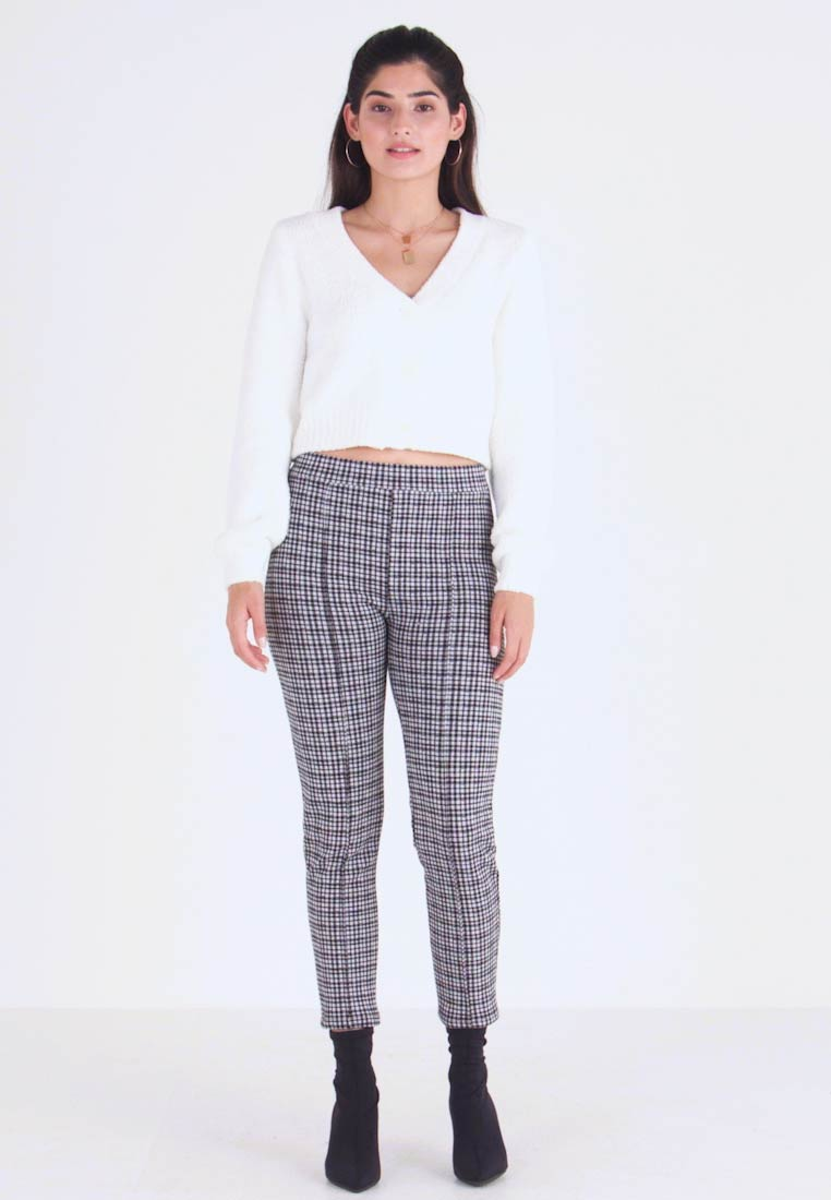 Miss Selfridge Petite - CHECK PONTE TROUSER - Trousers - multi - 1