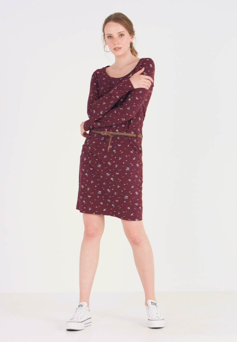 Ragwear - MONTANA - Shift dress - wine red - 1
