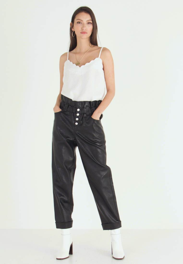 River Island - Leather trousers - black - 1