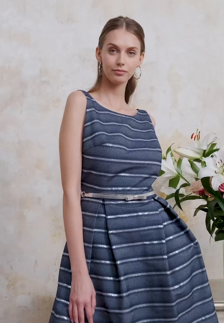 Swing - Cocktail dress / Party dress - marine /silber - 1