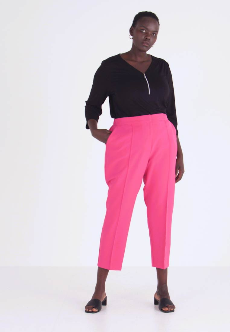 Simply Be - PRESS TROUSER - Kalhoty - pink - 1