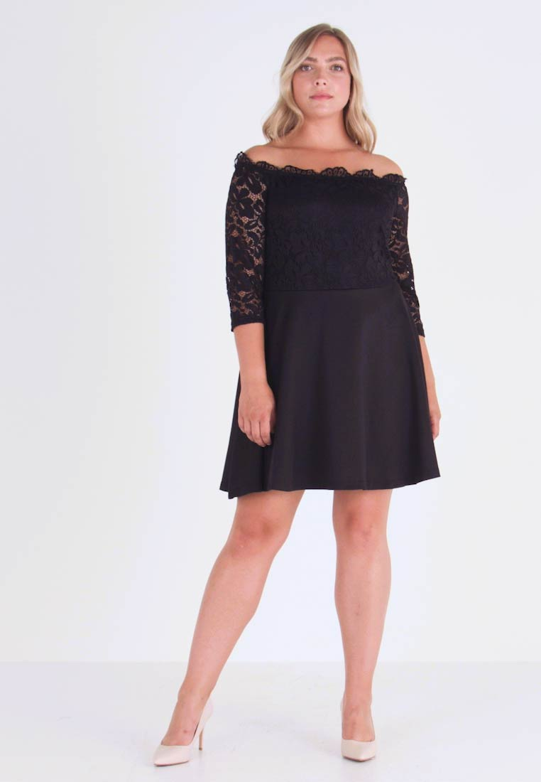 Simply Be - BARDOT PROM DRESS - Cocktailkjole - black - 1