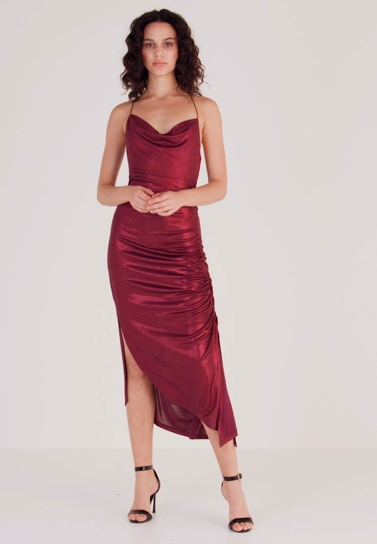 Soaked in Luxury - SLADALYNN STRAPDRESS - Vestido de fiesta - grape wine - 1