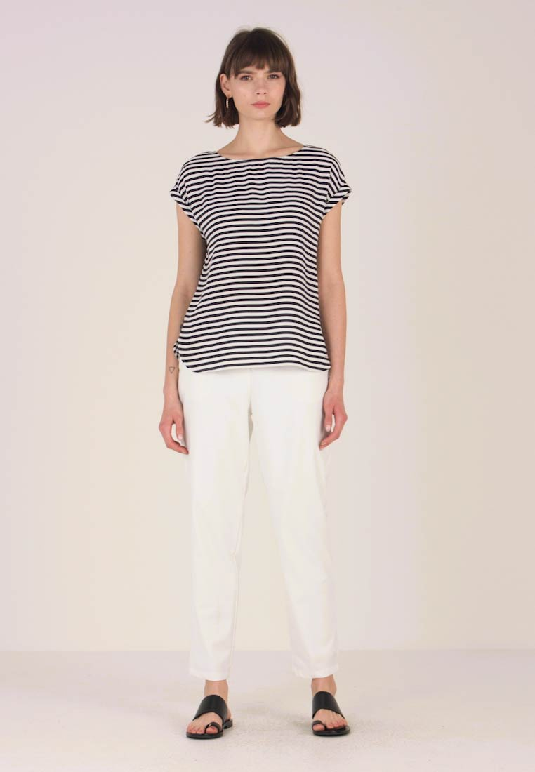 TOM TAILOR DENIM - SPORTY BLOUSE - Blouse - dark blue/white - 1