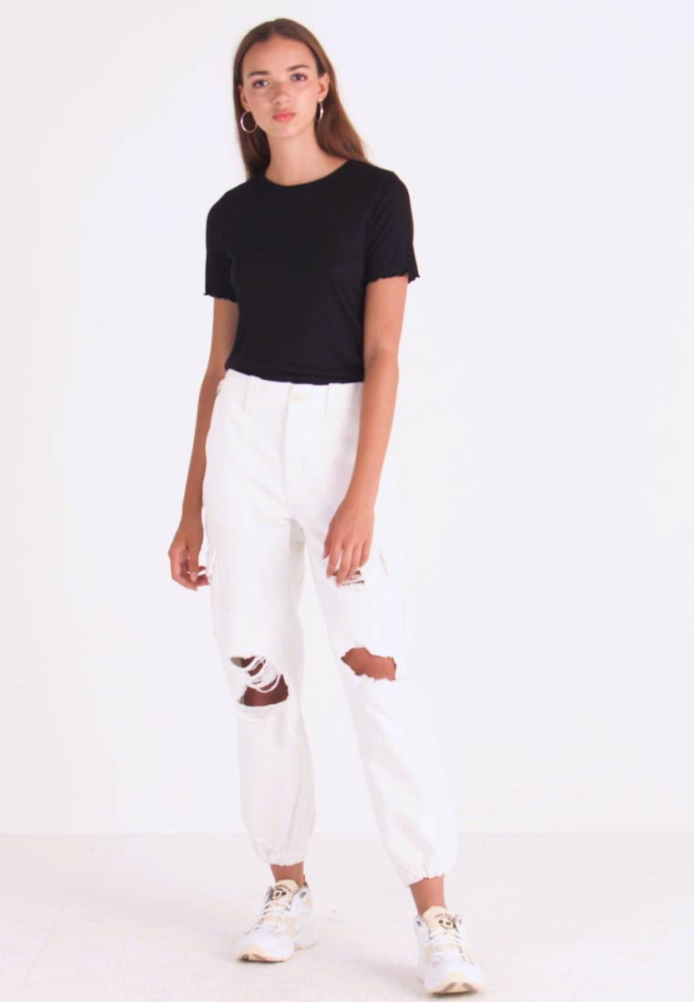 Topshop - REMI UTILITY - Jeans baggy - off white - 1