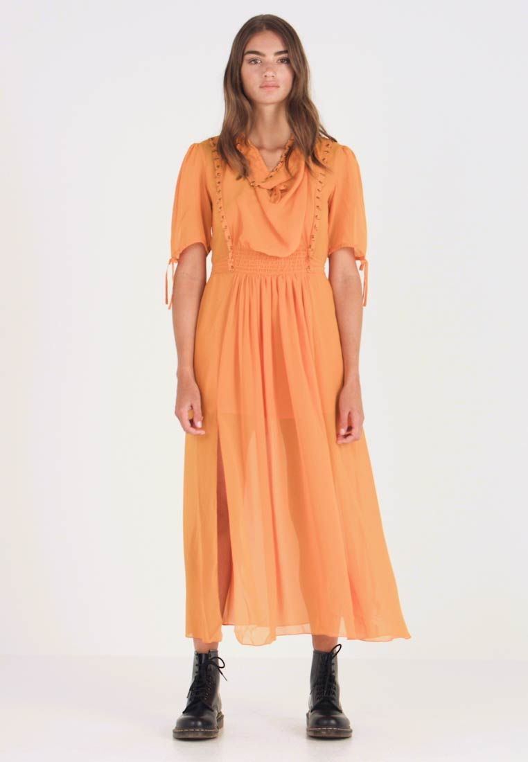 Topshop - EYETLET DETAIL COWL MIDI - Day dress - colour - 1
