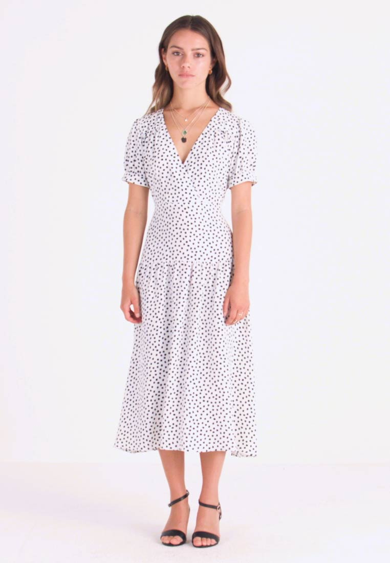 Topshop Petite - WHITE STARLIGHT PRINT DRESS - Day dress - white - 1