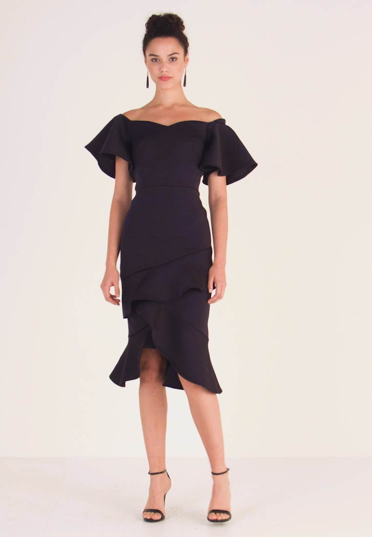 True Violet - OFF THE SHOULDER FRILL BODYCON - Cocktail dress / Party dress - navy - 1