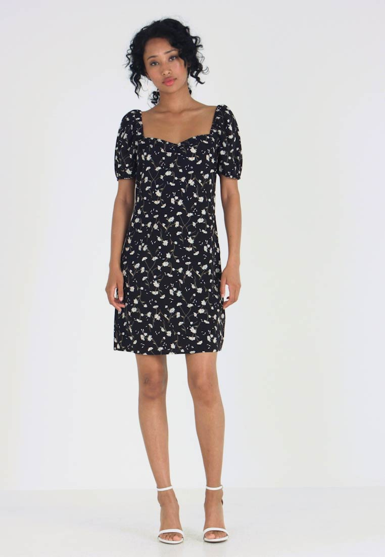 Vila - VINCENTA FLOWER PRINT DRESS - Denní šaty - black - 1