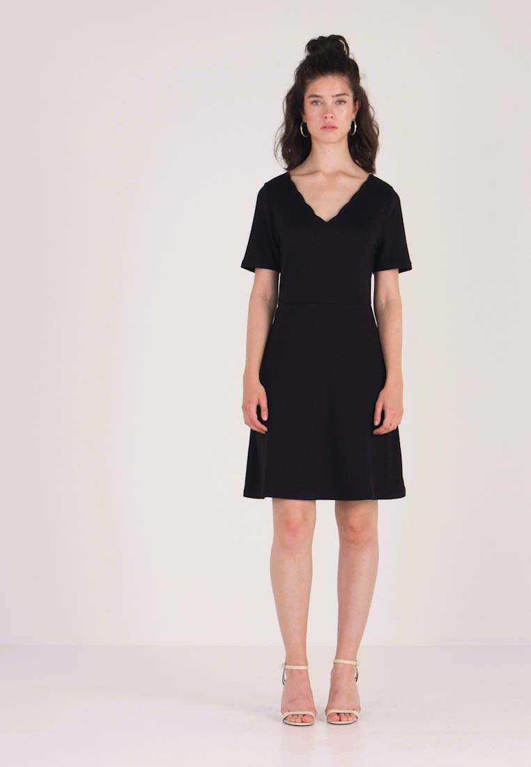 Vila - VIRYLIE DRESS - Jerseykjole - black - 1