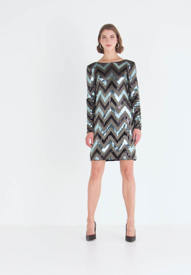 Vila - VISPARKY CHEVRON DRESS - Vestido de cóctel - black - 1