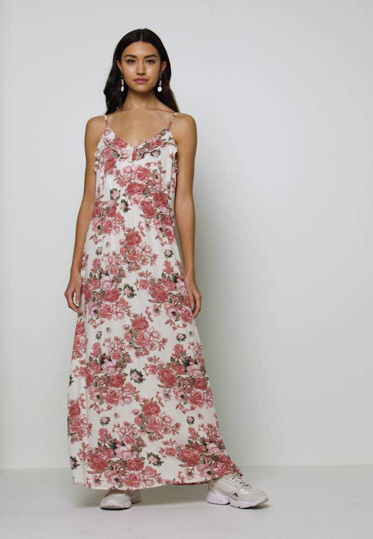 Vila - VIROSALINE MAXI DRESS - Maxi-jurk - cloud dancer - 1