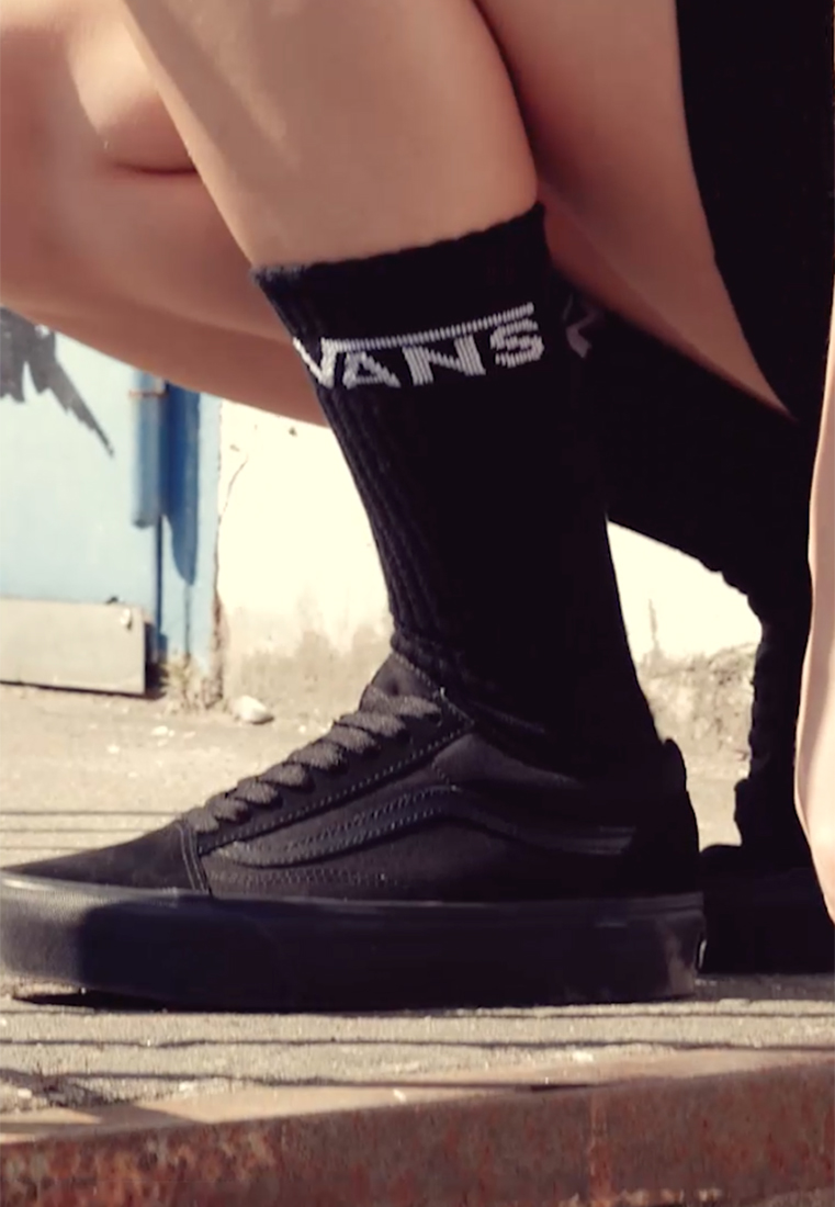 Vans - UA OLD SKOOL PLATFORM - Trainers - black - 1