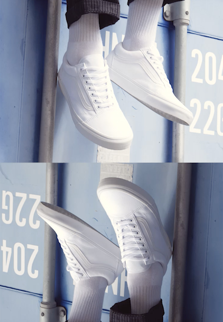 Vans - OLD SKOOL - Chaussures de skate - true white - 1