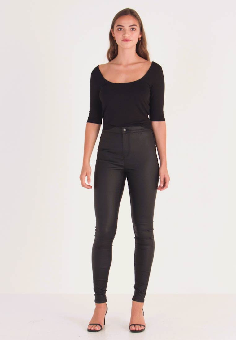 Vero Moda - VMJOY COATED - Stoffhose - black - 1