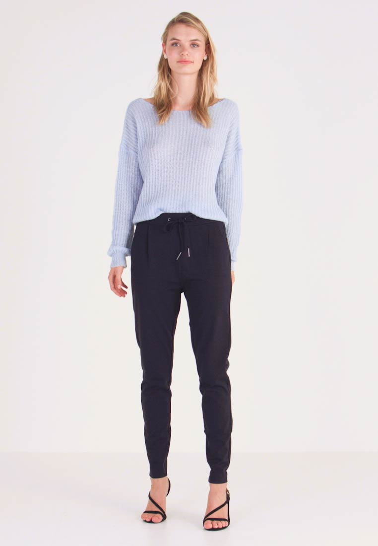 Vero Moda Tall - VMEVA LOOSE STRING PANTS  - Tracksuit bottoms - night sky - 1