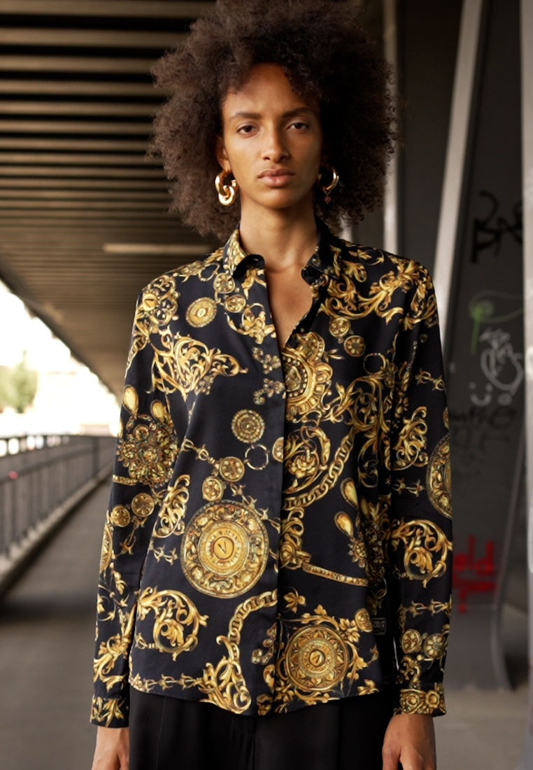 Versace Jeans Couture - SHIRT - Overhemdblouse - black/gold - 1