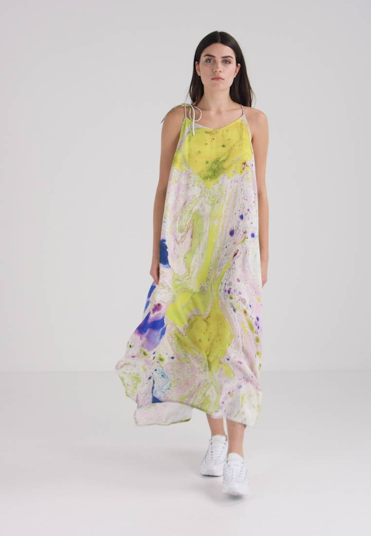 Weekday - MOSS STRAP DRESS - Maxikleid - off-white/multi-coloured - 1