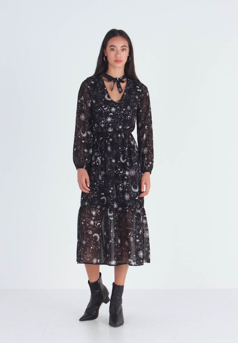 Wednesday's Girl - TIE NECK MIDAXI DRESS - Day dress - galaxy - 1