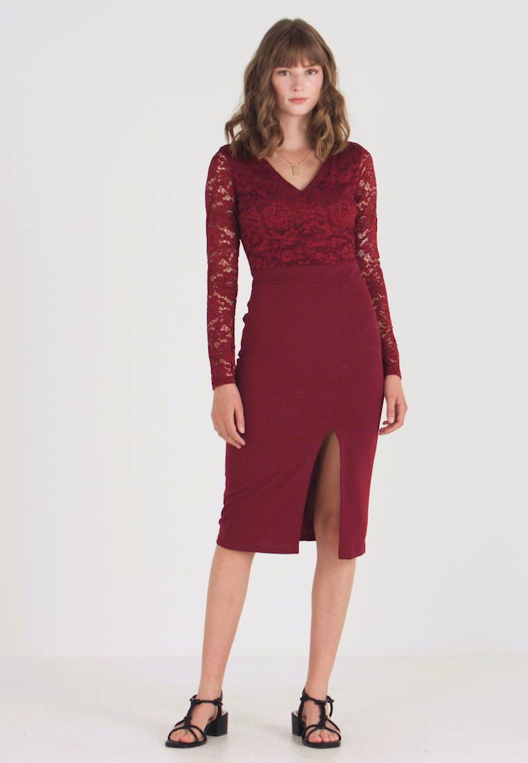 WAL G. - SLEEVE DRESS - Cocktail dress / Party dress - wine - 1