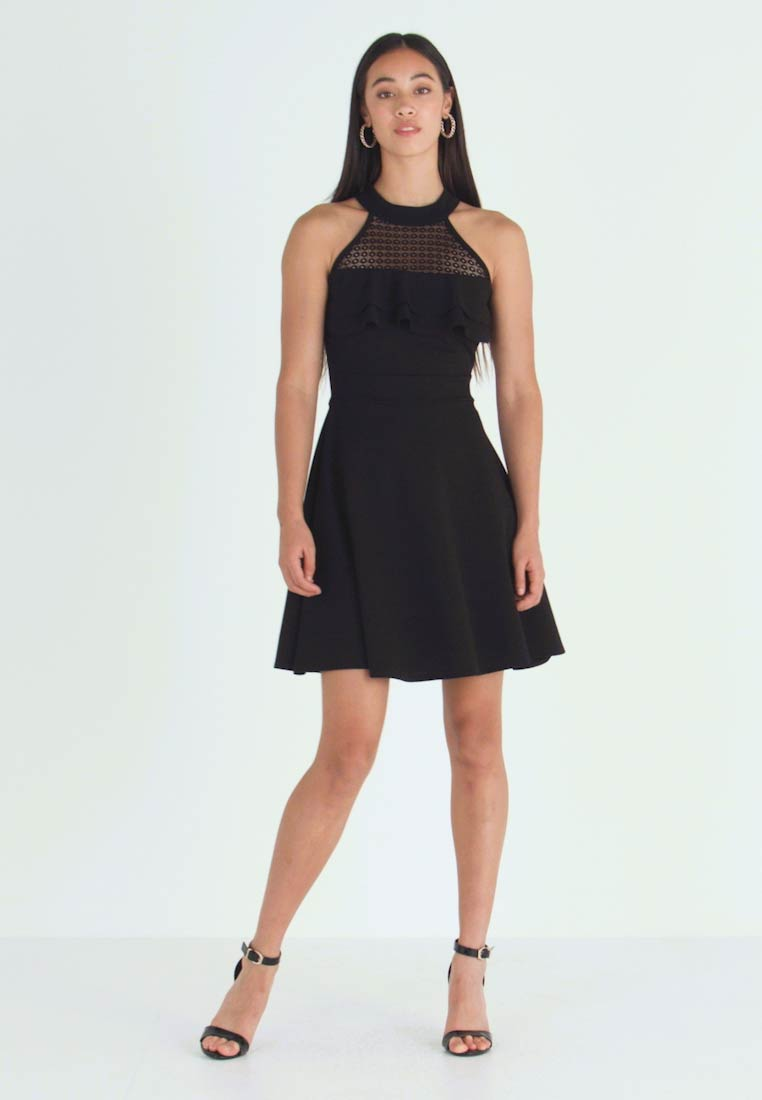 WAL G. - HELCTOR NECK FRILL MIDI DRESS - Robe de soirée - black - 1