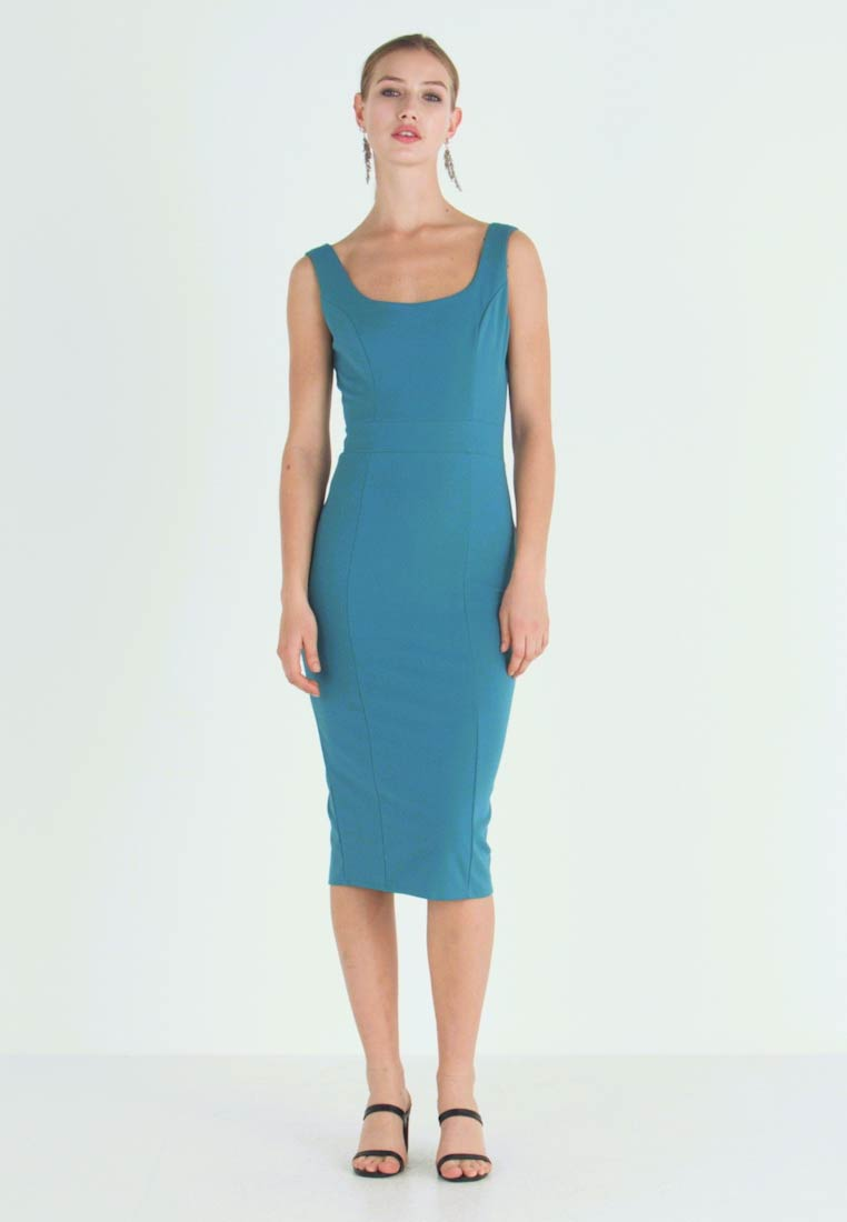 WAL G. - U NECK MIDI DRESS - Jerseykleid - teal - 1
