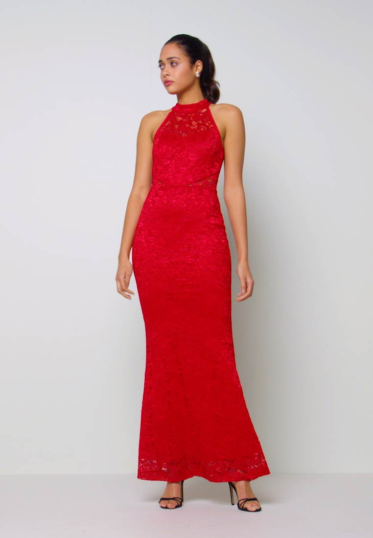 WAL G. - HALTER NECK MAXI DRESS - Occasion wear - red - 1