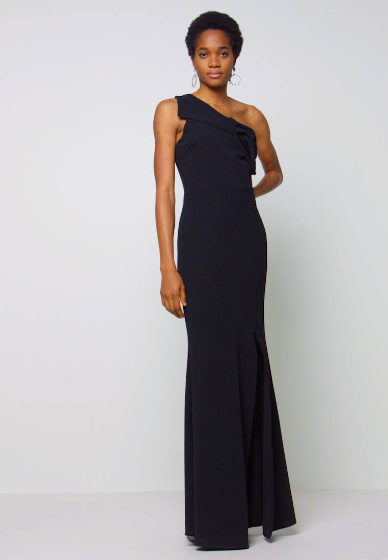 WAL G. - ONE SHOULDER BOW MAXI DRESS - Vestido de fiesta - black - 1