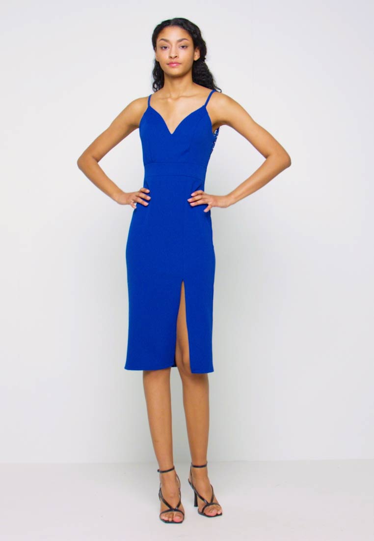 WAL G. - STRAPPY MIDI DRESS - Cocktailkjole - electric blue - 1