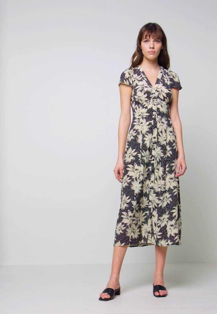Whistles - STARBURST FLORAL PRINT DRESS - Day dress - black - 1