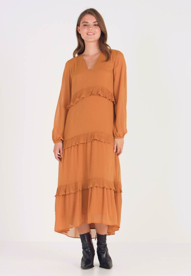 YAS - YASESTELLE LONG DRESS - Denní šaty - buckthorn brown - 1