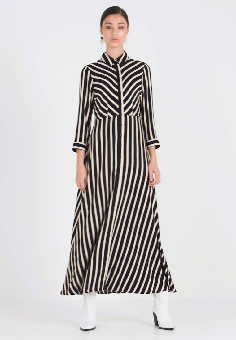 YAS - YASSAVANNA LONG DRESS NEW - Maxi dress - black/creme brulee - 1