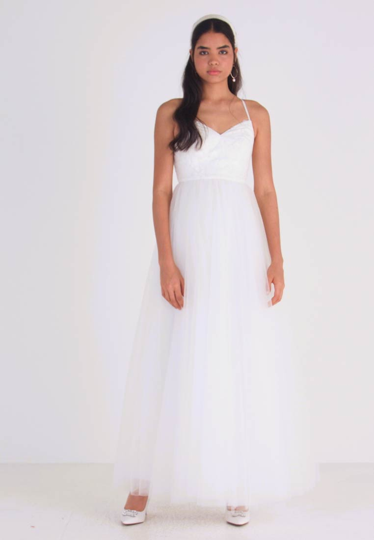 YAS - YASZETIA STRAP MAXI DRESS - Iltapuku - star white - 1