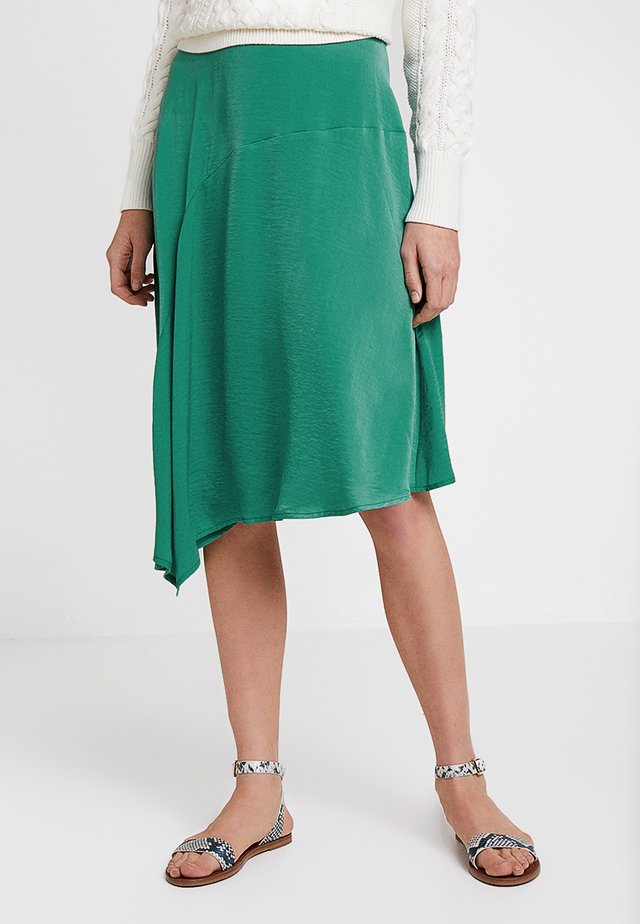 CARLIE SKIRT - Spódnica trapezowa - bottle green