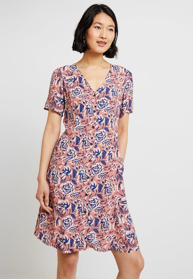 V NECK DRESS - Shirt dress - pink