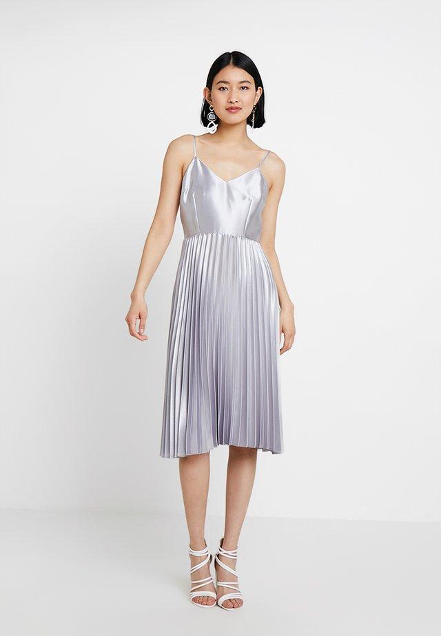 WRAP BODICE DRESS - Cocktail dress / Party dress - silver