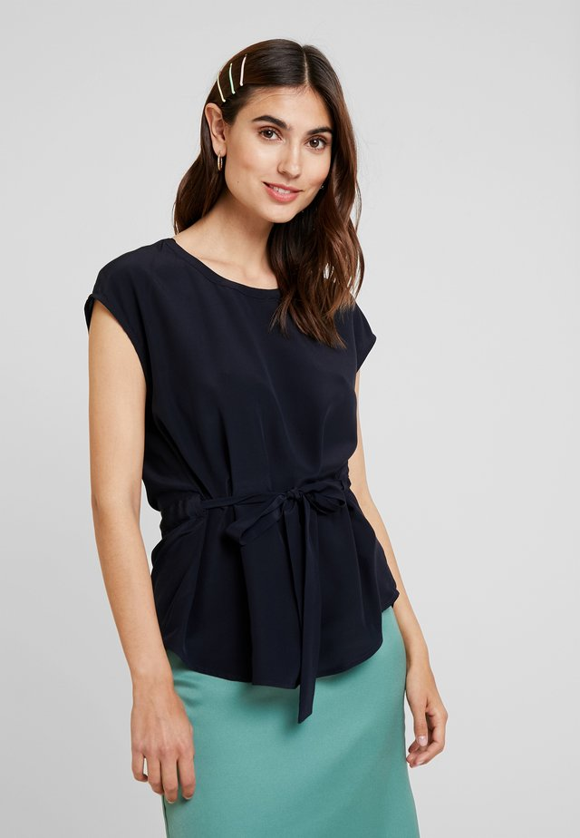 BLOUSE BELT WITH TUNNEL AT BACK - Bluzka - pure navy