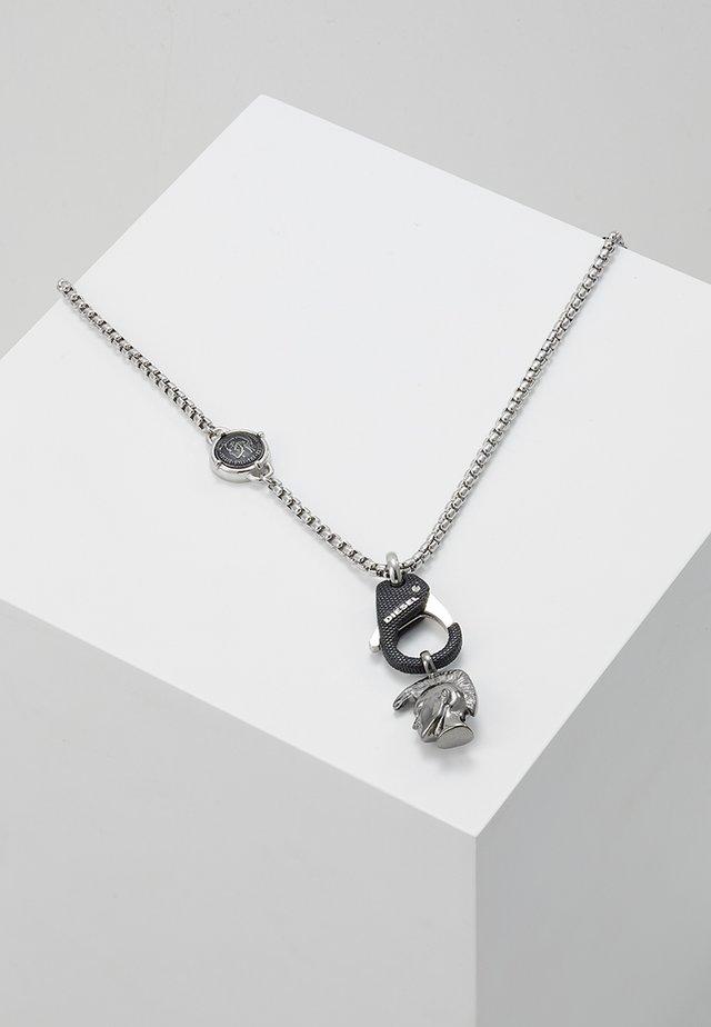 SINGLE PENDANT - Naszyjnik - black/silver-coloured