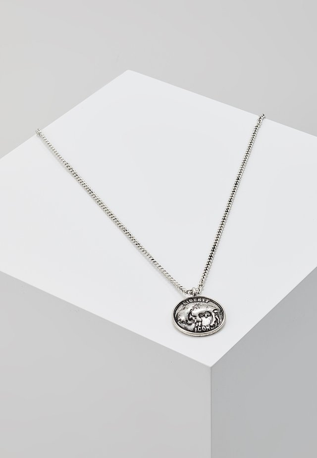 SCENE NOT HERD NECKLACE - Halskæder - silver-coloured