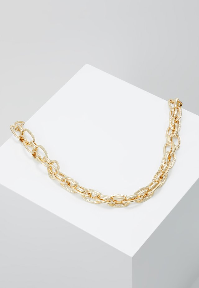 TEXTURED LINK CHAIN NECKLACE - Halsband - gold-coloured
