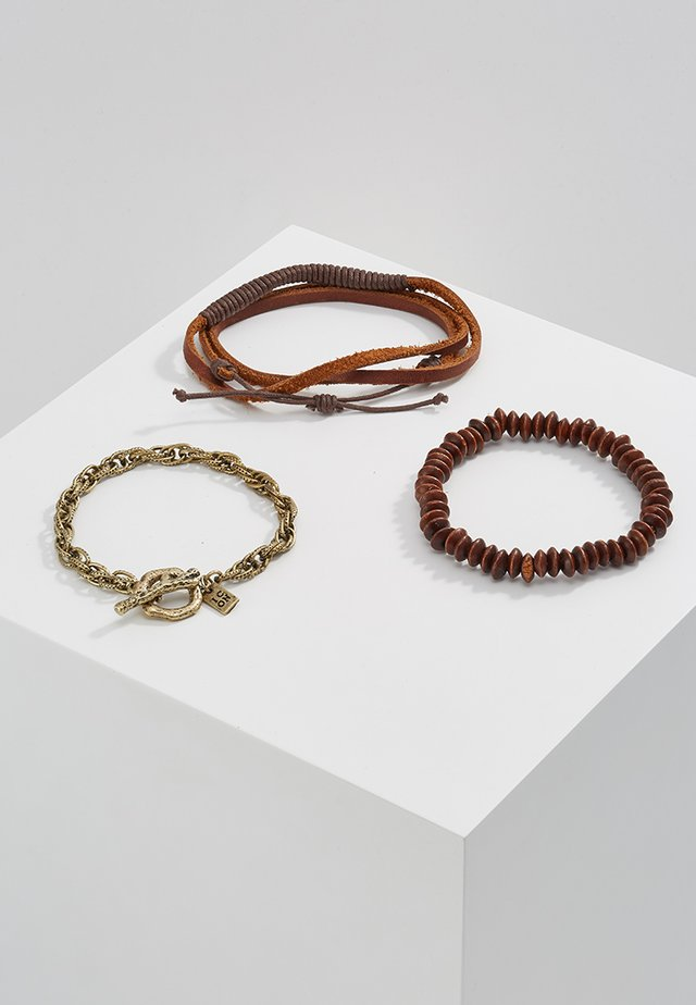 WRAPPED UP COMBO 3 PACK - Pulsera - brown