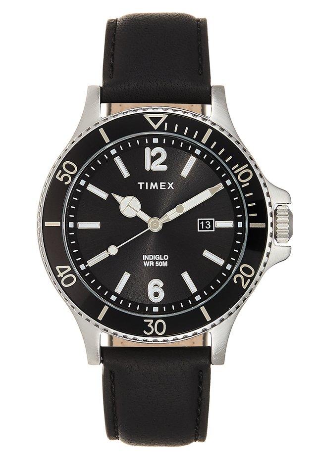 CITY DRESS - Horloge - black/silver-coloured