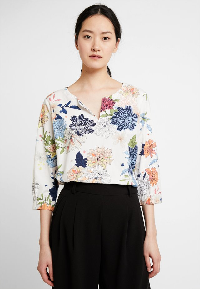 Blouse - white/apricot
